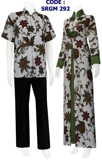 Gamis Batik Model Belah Tengah Mawar Srgm 29 Koleksi