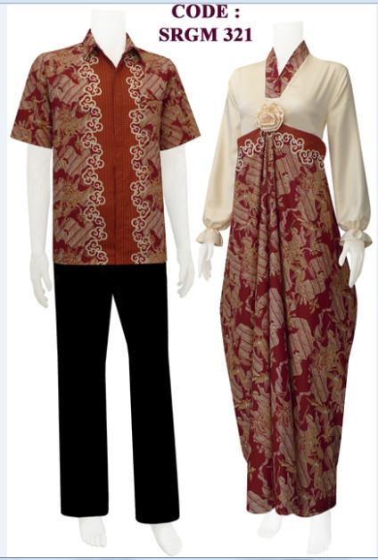 Gamis Batik Sarimbit Model Kaftan *new*  Koleksi Batik Modern